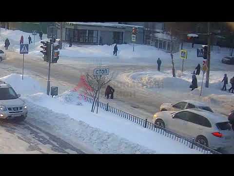 Авария с пешеходом в Ярославле