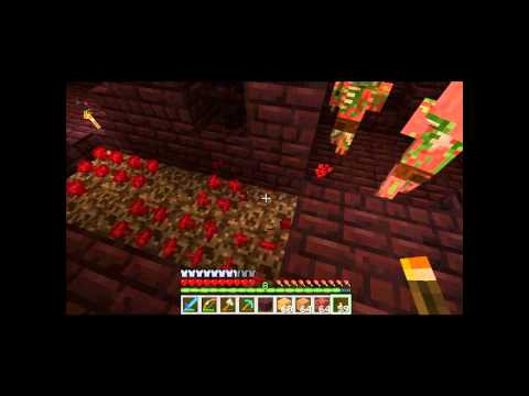 Minecraft 1.0: Nether Castle, Blazes, Into Fire Achievement!