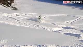 1. Arctic cat proclimb 1100 turbo HCR in deep snow