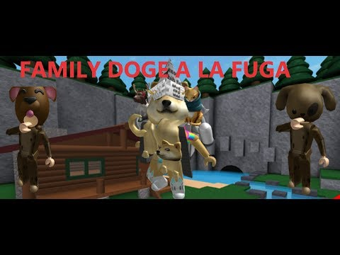 FAMILY DOGE A LA FUGA//FLEE THE FACILITY//ROBLOX
