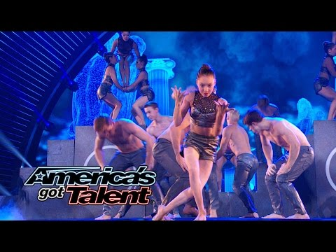 America - AcroArmy continues to shock the audience with their anxiety-ridden repeat dance performance. See why it's no surprise that they have made it to the finale! » Subscribe: http://full.sc/IlBBvK...