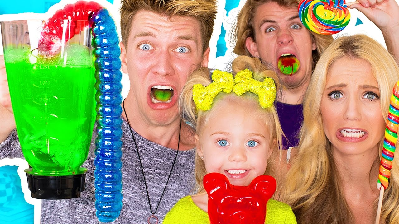 SOUREST GUMMY DRINK IN THE WORLD CHALLENGE!! Warheads, Toxic Waste Smoothie (EXTREMELY DANGEROUS) - YouTube