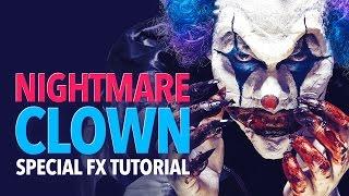 Nightmare clown halloween makeup tutorial