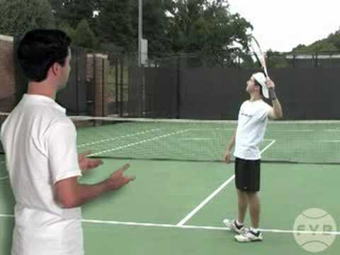 Tennis Kick Serve Progressions: Step 1: Swing and Pronate