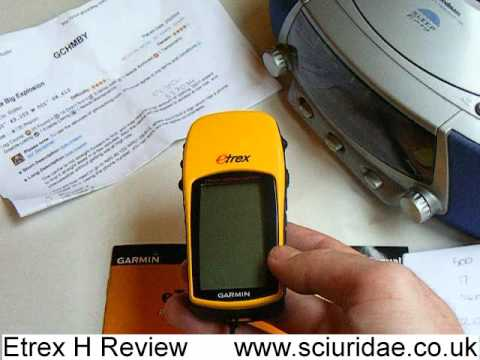 GPS - Quick review of the new Garmin Etrex h (high sensitivity GPS Reciever) www.sciuridae.co.uk webmaster: scalsepeeder.