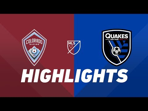 Video: Colorado Rapids vs. San Jose Earthquakes | HIGHLIGHTS - August 10, 2019