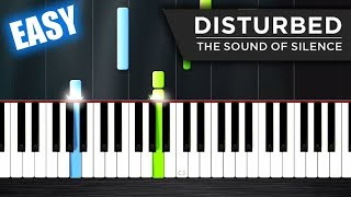 Video Disturbed - The Sound Of Silence - EASY Piano Tutorial by PlutaX MP3, 3GP, MP4, WEBM, AVI, FLV Juni 2018