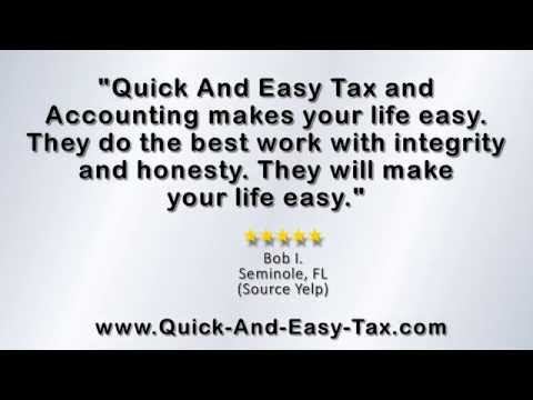 Quick and Easy Tax Accounting, Inc. – REVIEWS – Largo, FL Accountants Reviews