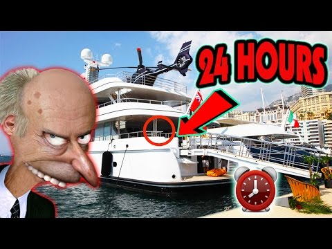 (GONE WRONG) 24 HOUR OVERDAY CHALLENGE ON MILLIONAIRE SUPER YACHT | (POLICE HIDE & SEEK ON YACHT) (видео)
