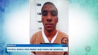 Polícia procura por detento que fugiu do Hospital das Clínicas de Marília