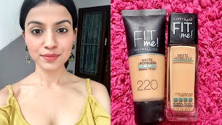 Hey everyone! In this video I'm doing a comparison with the maybelline fit me foundation shades that is natural buff 230 and natural beige 220. I have also compared the glass bottle and the tube one but unfortunately the tube fit me foundation is not available in India, but there is not major difference. The tube is is more light weight but the glass bottle one is more mattifying. Both the foundations are great even if the shades are compared so both are suitable for medium skin. If you liked the video so do not forget to hit the like button and subscribe to my channel. 😊What I'm wearing Top- only Nail polish - maybelline super stay beige touch Lipstick - maybelline Lipgradation mauve 1 Earnings - MyntraMusic-Dreams by Joakim Karud https://soundcloud.com/joakimkarudCreative Commons — Attribution-ShareAlike 3.0 Unported— CC BY-SA 3.0 http://creativecommons.org/licenses/b...Music provided by Audio Library https://youtu.be/VF9_dCo6JT4