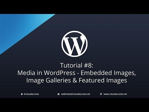 Video Tutorial #8: Media in WordPress: Embedded Images, Image Galleries & Featured Images download in MP3, 3GP, MP4, WEBM, AVI, FLV January 2017