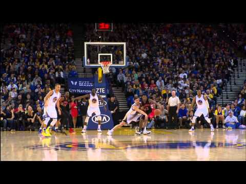Video: Green's Triple-Double and Curry's 32 Roll Warriors Over Raptors