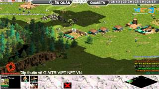 Liên Quân vs GameTV C2T3, ngày 30/08/2015, game đế chế, clip aoe, chim sẻ đi nắng, aoe 2015