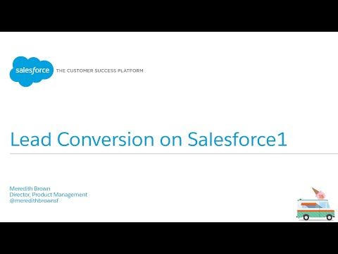 Sales Cloud - Lead Conversion on Salesforce1