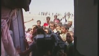Iraq: Yazidis Rescused By Helicopter From Mount Sinjar | Channel 4 News
