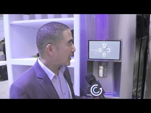 Samsung Smart Refrigerator (with Wi-Fi) at CES 2014