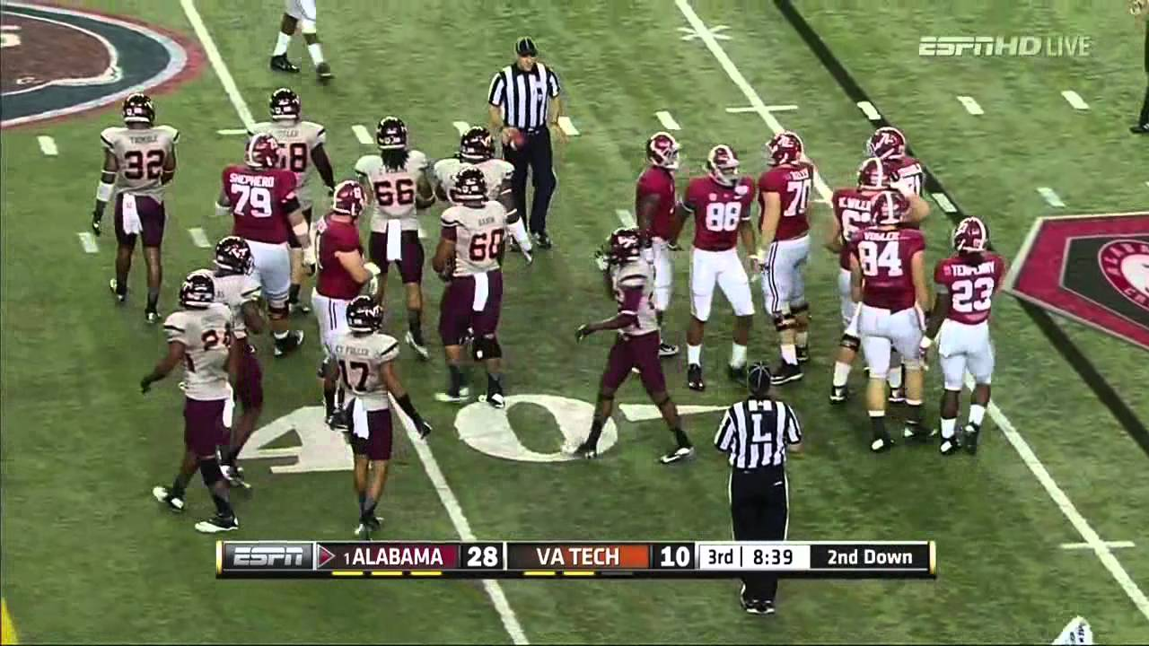 Cyrus Kouandjio vs Virginia Tech (2013)