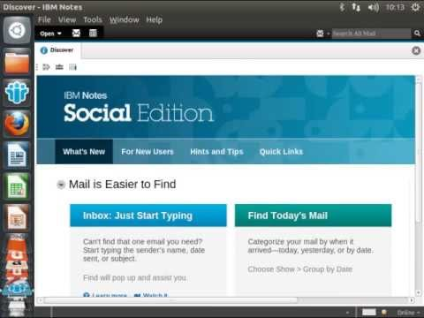 Installation of IBM Notes 9 Social Edition on Ubuntu Desktop 12.10