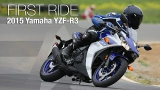 9. 2015 Yamaha YZF-R3 First Ride - MotoUSA