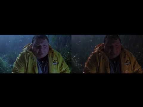 Jurassic Park Blu Ray : Side by Side Comparison: 1080p