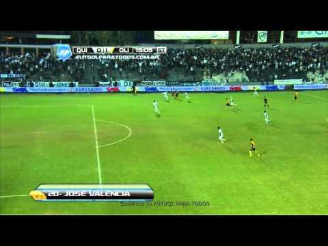 Gol de Valencia. Quilmes 0 – Olimpo 1. Fecha 15. Torneo Final 2014