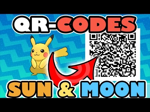 HOW TO USE QR CODES IN POKEMON SUN AND POKEMON MOON!!!