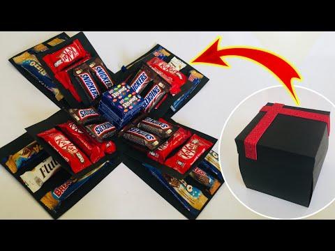 Surprise gift box for birthday, anniversary, Valentine's day   chocolate Explosion box