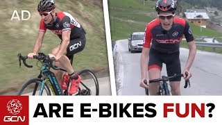 Video Are E-Bikes Fun? Road Bike Vs Road E-Bike MP3, 3GP, MP4, WEBM, AVI, FLV Juli 2019