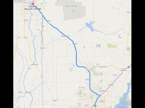 CA 65 From Roseville to Yuba City