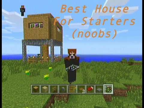 BEST HOUSE DESIGN STARTING OUT (MINECRAFT)