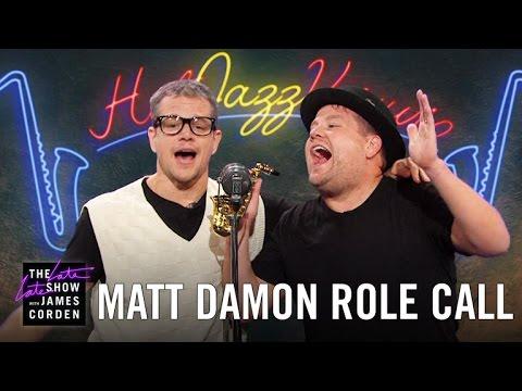 Matt Damon Acts Out His Film Career w/ James Corden