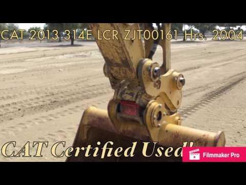CATERPILLAR TRACK EXCAVATORS 314E LCR equipment video F9DEVU20-UQ