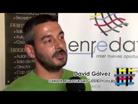 David Gálvez Gerente de Agroturismo Los Botijos Enrédate Xátiva 2014