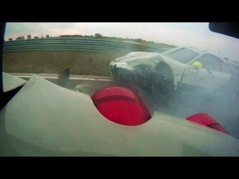 Ferrari & Porsche crash @ Slovakia Ring – 2013.08.25