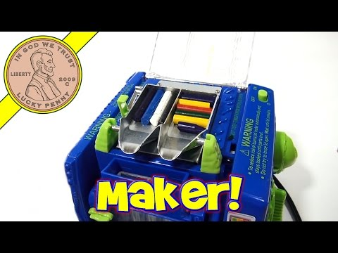 crayons - Get This Item From the Lucky Penny Shop! http://luckypennyshop.com/crayola-crayon-maker-set/ [Key points in video] 0:58 Intro / Unboxing 2:03 Parts inventory...