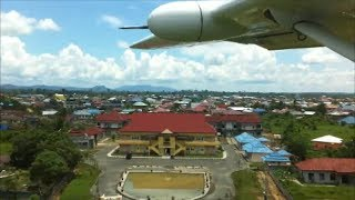 Tanjung Selor Indonesia  city photo : Susi Air C208B Grand Caravan - Approach and landing into Tanjung Selor airport, Indonesia