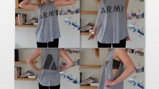 Make Your Own Muscle Tee! (Brandy Melville DIY) - YouTube