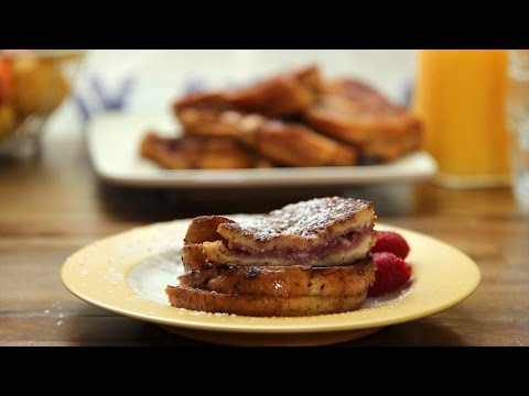 french toast ai lamponi - ricetta