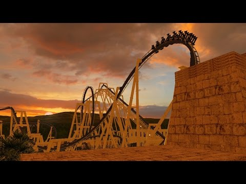 Montu Roller Coaster Layout