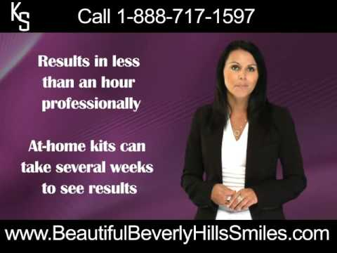 Professional in-office teeth whitening and at-home teeth whitening beverly hills