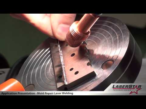 <h3>Laser Welding - Mold Repair Welding</h3>This laser welding video is demonstrating the industrial capabilities of the 1900 XL 200 watt welder. This laser welder is shown repairing a machine tool part.<br /><br />