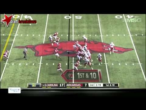 Brandon Shell vs Arkansas 2013 video.