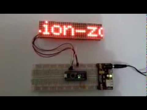 64x8 LED Matrix 8x MAX7219 Arduino - YouTube