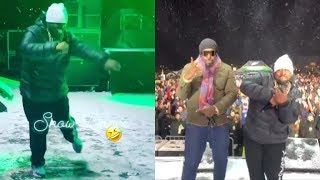 Big Boi From OUTKAST Dance In Snow While Performing in Breckenridge, Colorado.