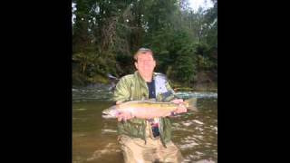 Fishing on the Nehalem - a Oregon coastal river - in December for big steelies with Rob Crandall of Water Time Outfitters.