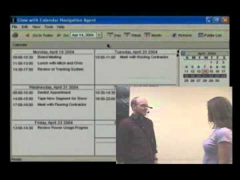Wearable Computing:  Using Dual Purpose Speech to control a calendar program