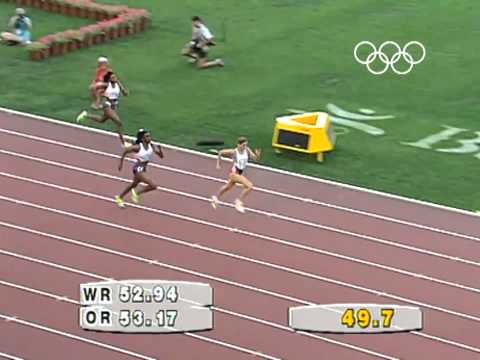Sally Gunnell Olympic Final 1992 - Barcelona