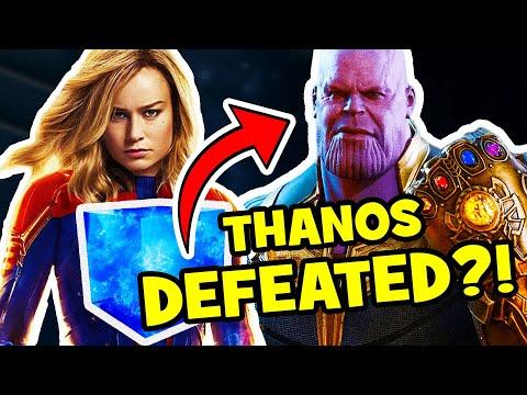 How CAPTAIN MARVEL Defeats Thanos In AVENGERS ENDGAME