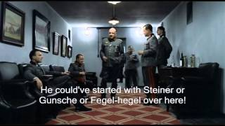 Hitler plans to rant about the Bunker staff